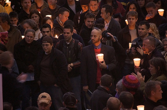 Sandy-commemorating candlelight vigils Tuesday night