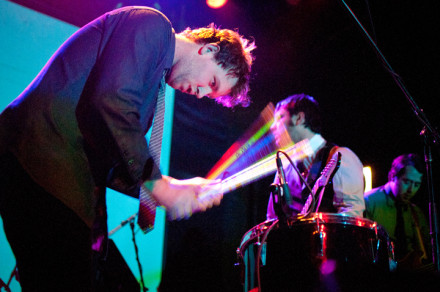 Caveman (above at Bowery Ballroom in 2012), will play an intimate set at Cameo Gallery as part of The Beehive. Photo by Sarah Gainer.