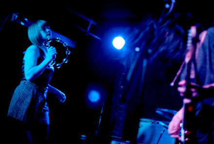 Heliotropes played Mercury Lounge earlier this year (above). Photo by Sarah Gainer.