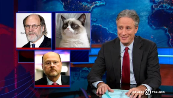 The Daily Show checks in on Bill de Blasio's inevitable victory
