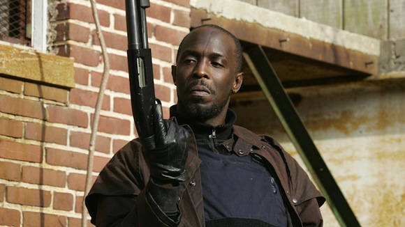 Omar comin': Michael K. Williams hanging out at Bedford Hall Sunday