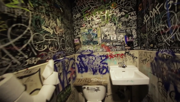 BK's crappy dive bar bathrooms turned into Dive Art in new video