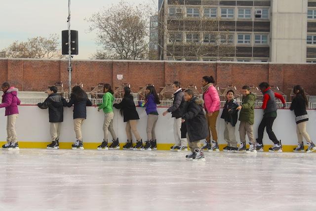mccarren park ice rink rail holding