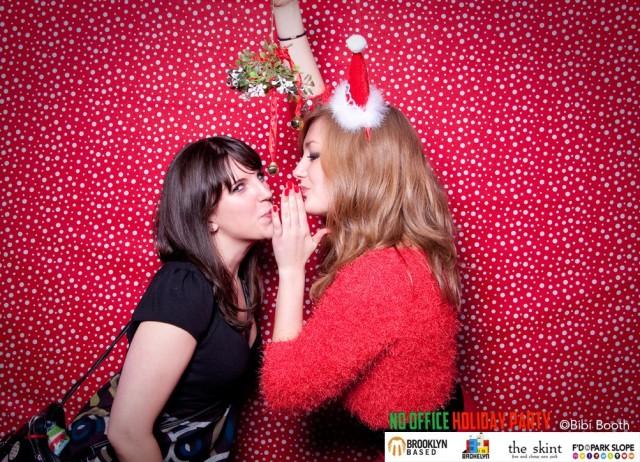 Santa shares secrets at last year's No Office Holiday Party. Photo by Sarah Gainer.