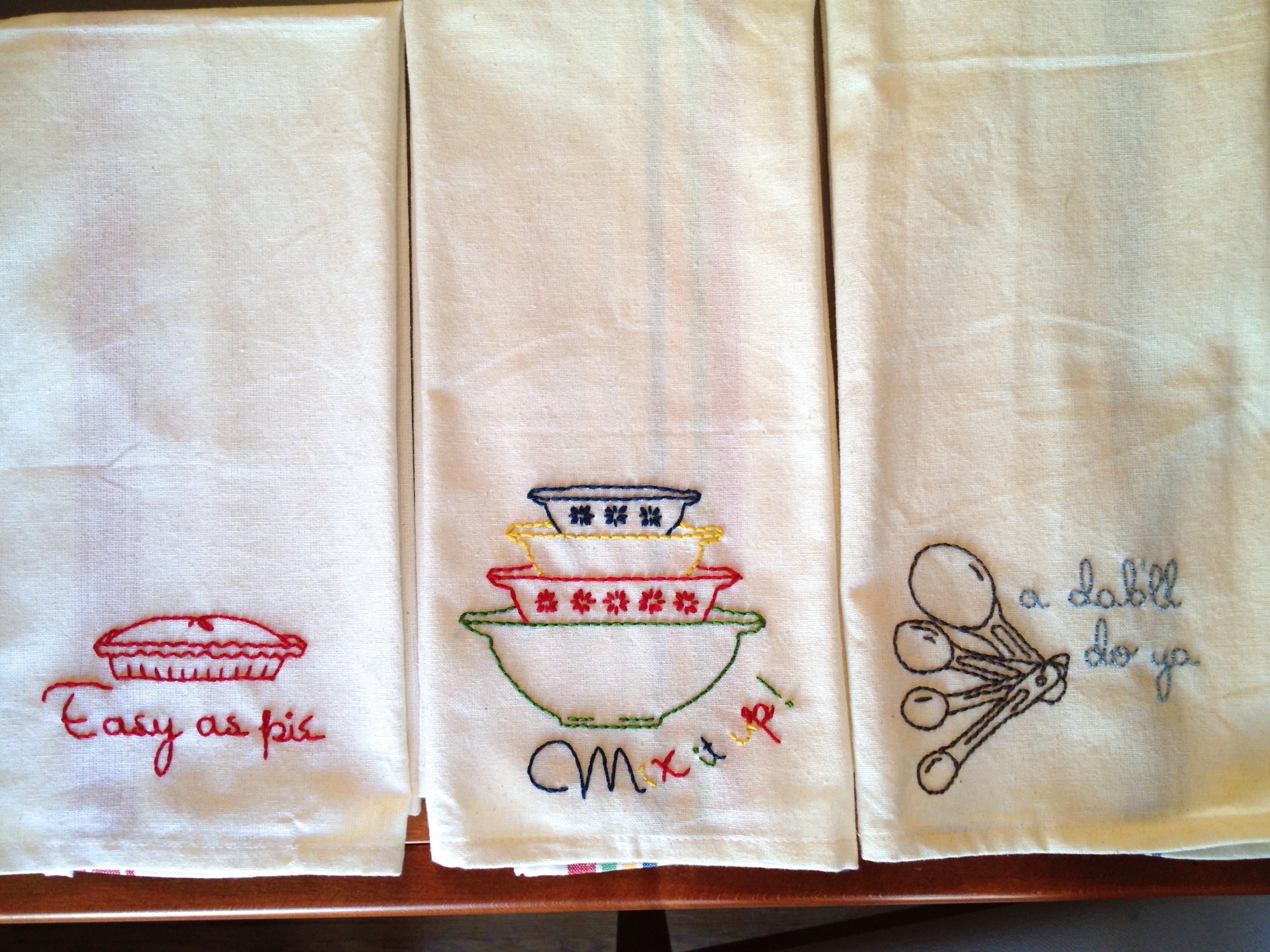 Tea Towel Embroidery Workshop - Brokelyn