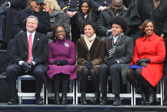de blasio family inauguration
