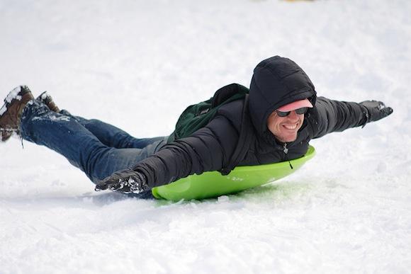 sledding in brooklyn