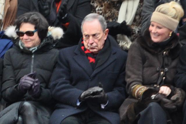 unhappy bloomberg de blasio inauguration
