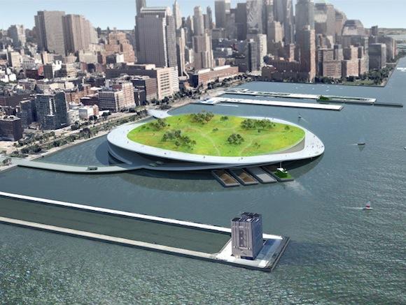 Futurists propose compost piers/parks off of NYC coastline