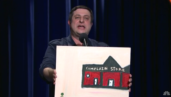Eugene Mirman has some art that he'd like to display at Whole Foods