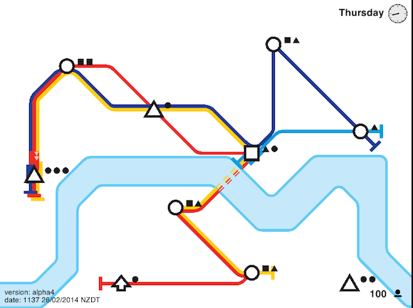 Extremely addictive browser game Mini Metro challenges you to run your own damn subway