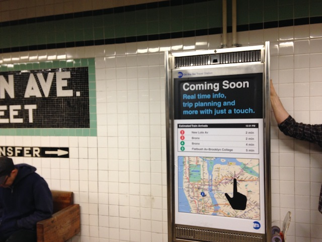 Metropolitan Avenue G train stop appears to be getting a touchscreen kiosk