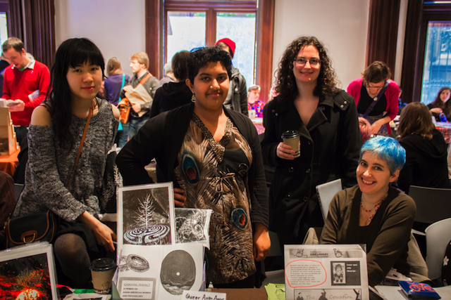 Talking zines with the tablers of the Brooklyn Zine Fest