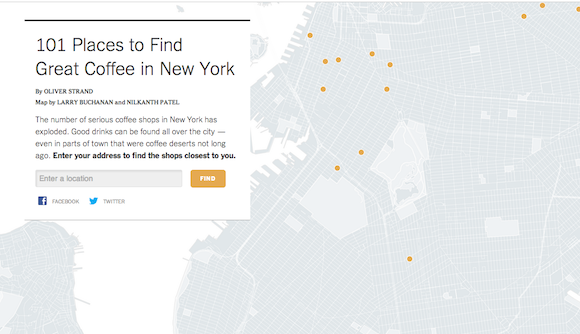 New York Times coffee shop map ignores basically all of Brooklyn