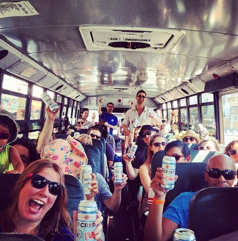 The NYC Beach Bus is back, with free Sixpoint summer beer!