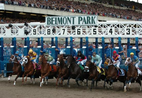 Going to the races doesn't have to cost a hellmont of money. Photo via Belmont Stakes.