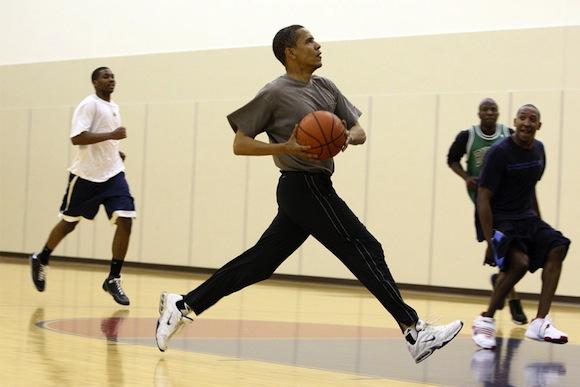 obama de blasio basketball