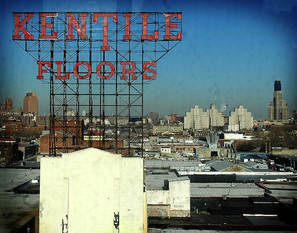The Kentile Floors sign is coming down