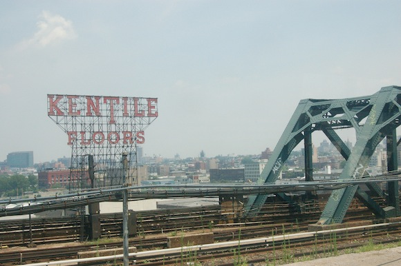 The Kentile Floors sign has been saved. Kind of!