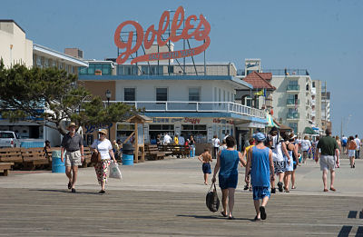 Rehoboth Beach boardwalk.