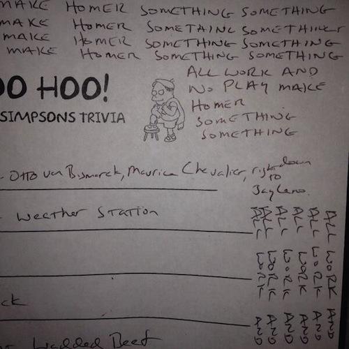 woo hoo simpsons trivia