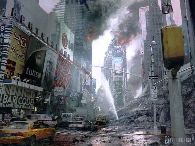 Times Square as it looks at this very moment.