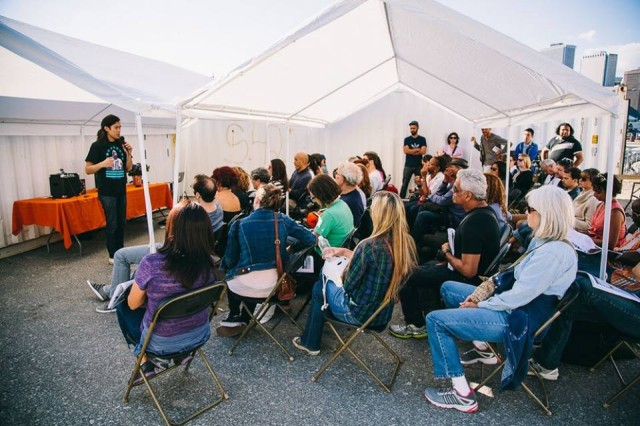 Photoville has free photography workshops and talks
