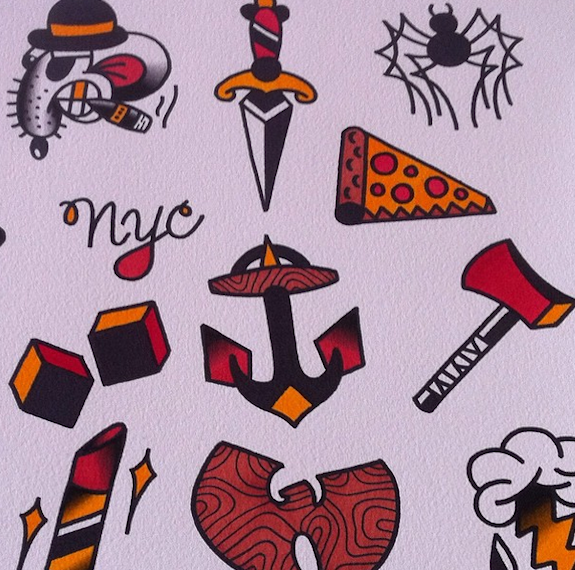 Let @rukus_tattoo ink you with one of these tats for only $40 at Black Square Tattoo