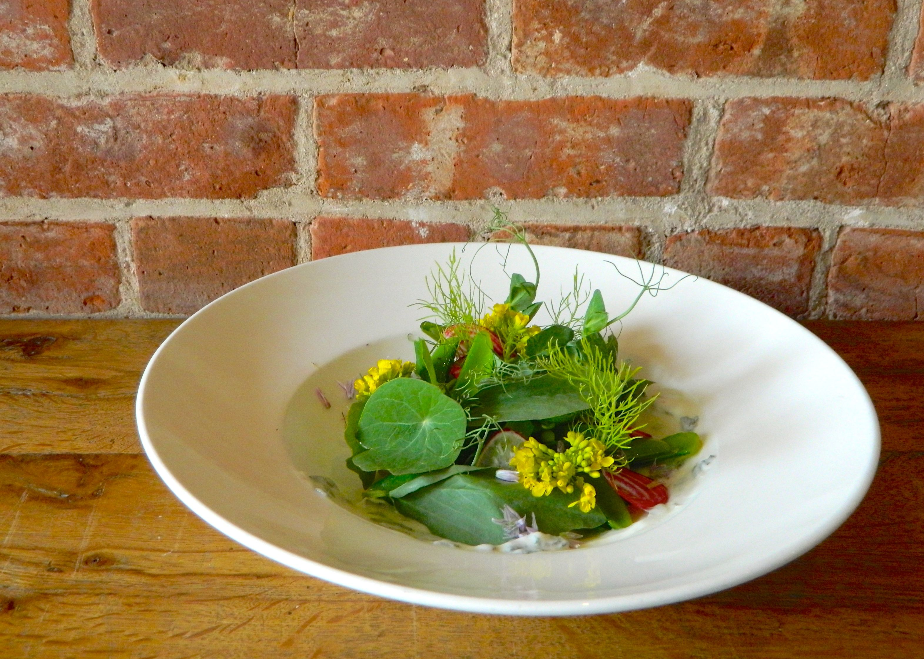 Colonie's salad uses ingredients you may have thrown away via Melissa Kravitz