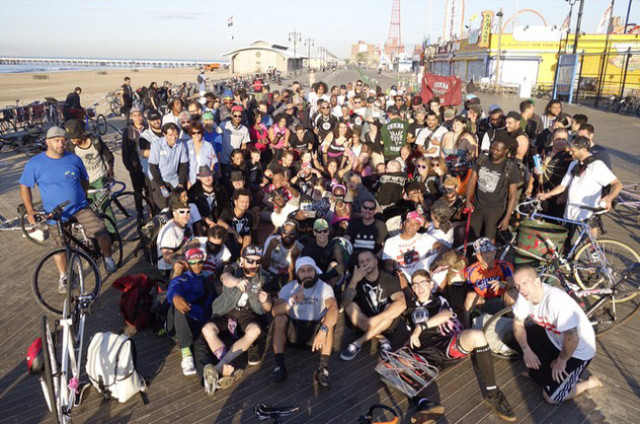 The final group shot in Coney Island. via TK