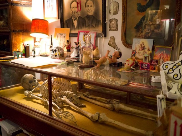 Just a small sampling of Morbid Anatomy's library, now relocated to its bigger museum. Via FB.