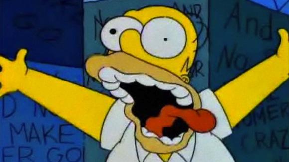 No beer and no Simpsons Club make Homer something something