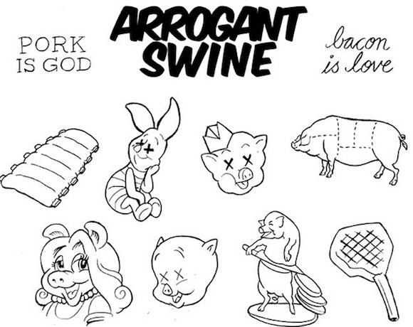 Get a free pig tattoo tonight at Arrogant Swine's grand opening party