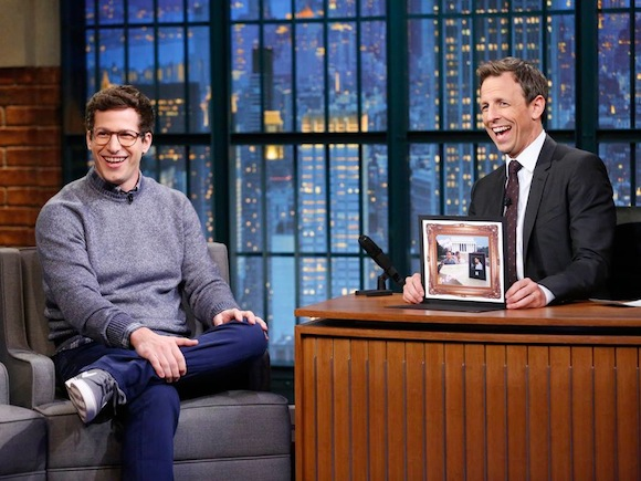 Catch some free rib-tickling humor from Seth Meyers next week at Hill Country Barbecue