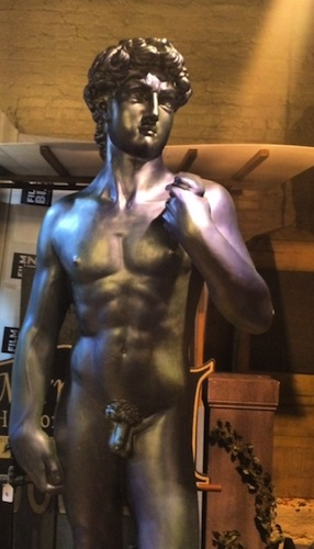 Win this giant naked man statue!