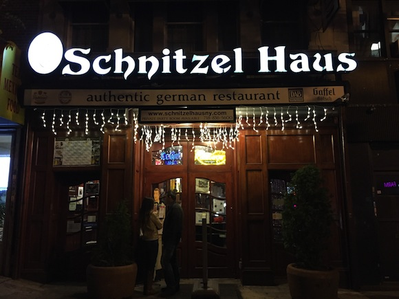 Eventually you'll be hungry again: Schnitzel Haus in Bay Ridge.