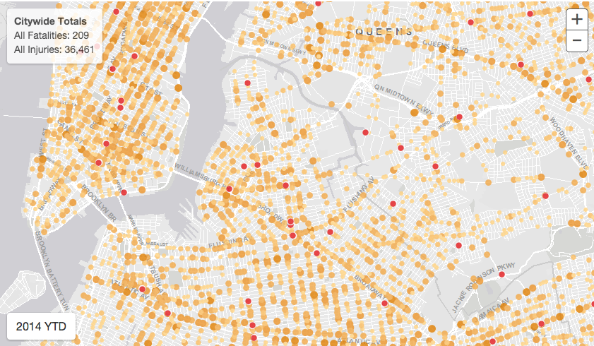 New Vision Zero map, Vision Zero View, will show you NYC's traffic carnage