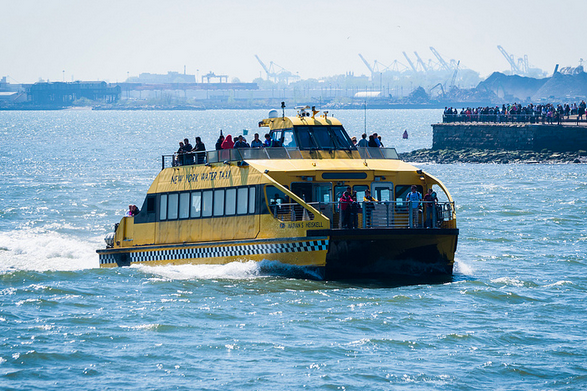 The Water Taxi will take you from DUMBO to Red Hook starting Tuesday