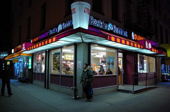 Brooklyn has five times as many Dunkin' Donuts as Starbucks