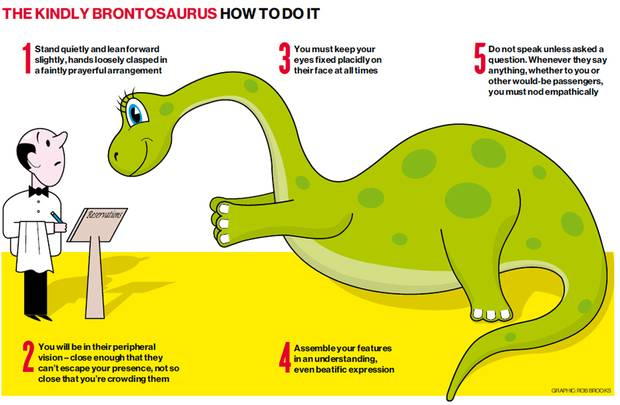 Be a kindly brontosaurus; not the jerk ankylosaurus.