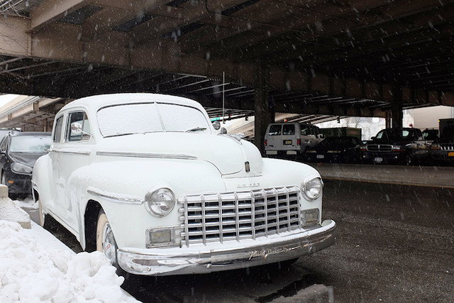 Old car + new snow = a pretty nice view. Photo by Patrick Phillips