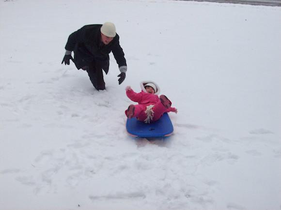 boogie board sled