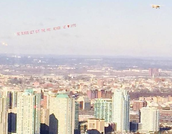 Anti-de Blasio airplane banner reign of terror continues in NYC skies