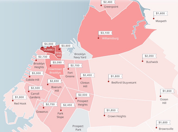 Fun map shows you can't afford a one-bedroom