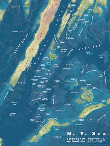 brooklyn sea rise map