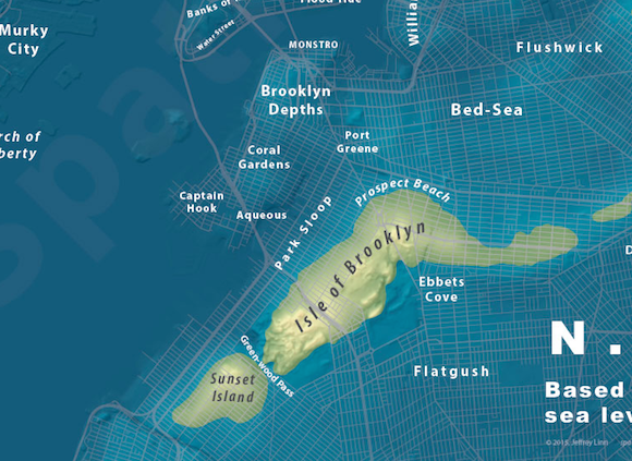 Fun map shows where in Brooklyn will survive rising sea level