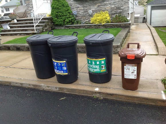 The one on the right, or just throw it on the floor, i guess. Via Dept. of Sanitation Facebook