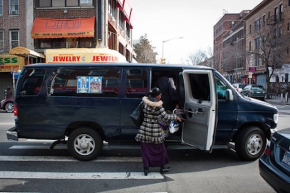 Dollar vans beat the bus, even when the driver has an emotional breakdown