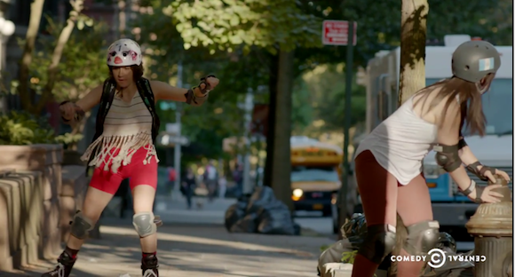 Spazzing on roller blades