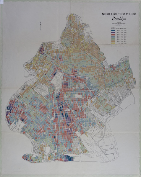 Brooklyn Historical Society - Average Monthly Rent by Blocks - 1940